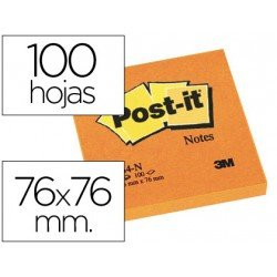 Bloc quita y pon Post-it ® naranja 76 x 76 mm