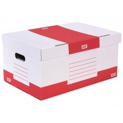 Caja de carton Fast Paperflow definitivo rojo y blanco