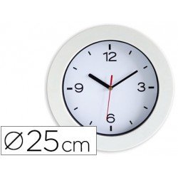 Reloj Cep pared plastico 25 cm color blanco