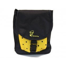 Bolso escolar portalápices color negro y amarillo