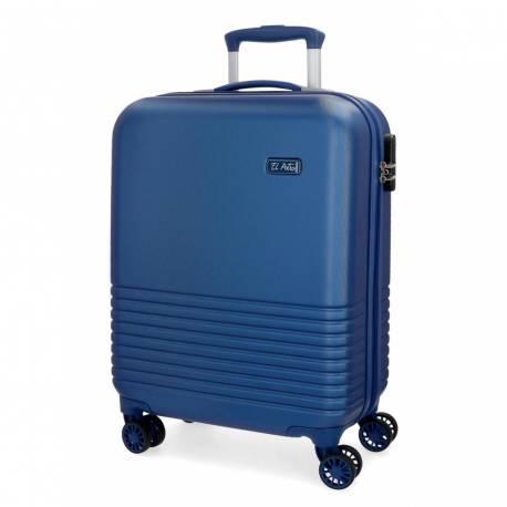 Maleta de cabina 55x36x20 cm Rigida El Potro Ride de color Azul
