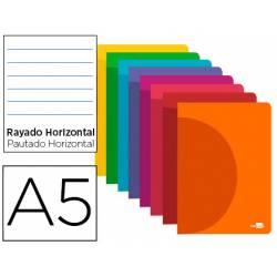 Libreta Liderpapel 360 A5 48 hojas 90g/m2 rayado horizontal (NO SE PUEDE ELEGIR COLOR)