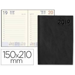 Agenda 2019 Encuadernada Corfu Dia pagina A5 Color Negro Liderpapel