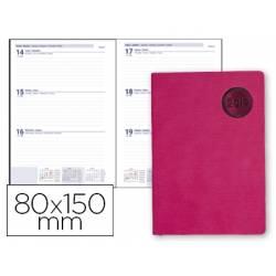 Agenda 2019 Encuadernada Kilkis Semana vista 80x150 mm Color Rosa Liderpapel