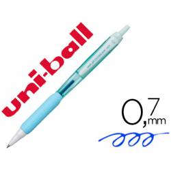 BOLIGRAFO UNI-BALL JETSTREAM RETRACTIL SXN-101 0,7 MM AZUL CIELO TINTA AZUL