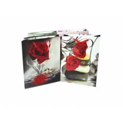 Bolsa para regalo grande rosas Arguval