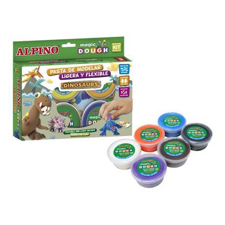 Pasta Alpino para modelar de Dough Dinosaurios