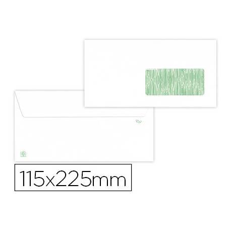 Sobre americano Liderpapel Blanco con Ventana 115x225 mm 90 gramos Caja 500 unidades