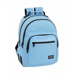 Mochila Escolar Blackfit8 42x32x15 cm Poliester Liso Light Blue Day
