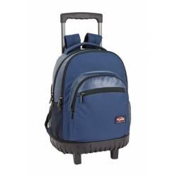 Mochila Escolar Blackfit8 45x32x21 cm Poliester Azul Oscuro Con carro