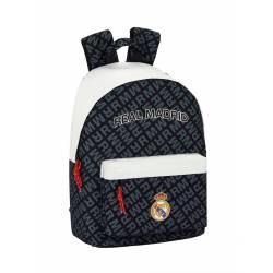 Mochila Escolar Real Madrid 41x31x16 Poliester Black & White