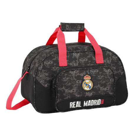 CARTERA ESCOLAR SAFTA REAL MADRID BLACK BOLSA DEPORTE 400X240X230 MM