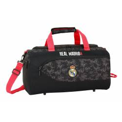 CARTERA ESCOLAR SAFTA REAL MADRID BLACK BOLSA DEPORTE 500X250X250 MM