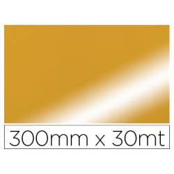 PAPEL FANTASIA COLIBRI SIMPLE METALIZADO ORO BOBINA 300 MM X 30 MT