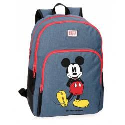 Mochila escolar Mickey Mouse 44x33x13,5 cm de Poliester Blue Adaptable a carro