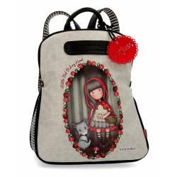 Mochila casual Gorjuss 38x31x15 cm de Piel Sintetica Little Red Riding Hood