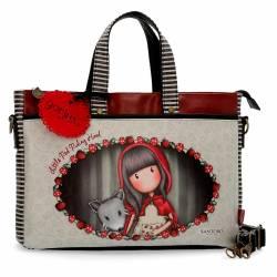 """Maletin para portatil 14"""" Gorjuss de Piel Sintetica Little Red Riding Hood"""