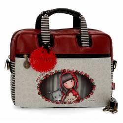 """Maletin para portatil 13,3"""" Gorjuss de Piel Sintetica Little Red Riding Hood"""
