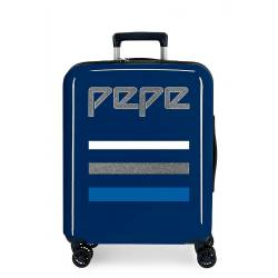 Maleta de cabina Pepe Jeans Taking off rígida azul 55x40x20cm