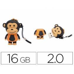 Memoria Flash USB de Technotech 16 GB Makako Mono Naranja