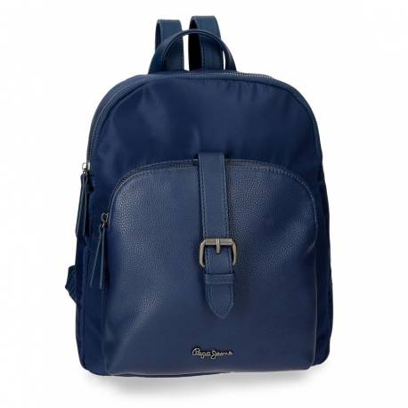 Mochila Pepe Jeans 31x26x9 cm de Poliester Ann Azul Porta Tablet