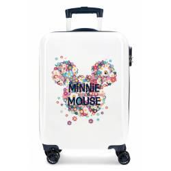 Maleta de cabina Minnie rígida Sunny Day Flores Azul 55x38x20cm