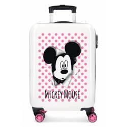 Maleta de cabina Mickey Mouse rígida rosa 55x38x20cm