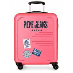 Maleta de cabina rígida Peje Jeans Edison Rosa 55x40x20cm