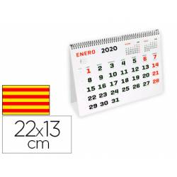 Calendario espiral triangular 2020 22x13cm 120gr Catalan Liderpapel