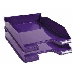 Bandeja sobremesa plástico Exacompta Combo 2 Classic Violeta 347x255x65mm