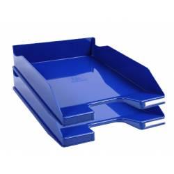 Bandeja sobremesa Exacompta Combo 2 Classic Azul 347x255x65mm