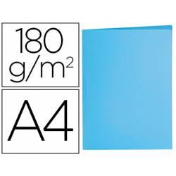 Subcarpeta de cartulina Liderpapel Din A4 Azul pastel 180g/m2