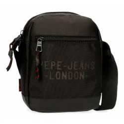 Bandolera Pepe Jeans Bromley Mediana Negra 22x17x6cm