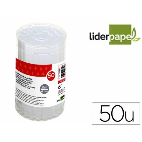 BARRAS TERMOFUSIBLE LIDERPAPEL DE 7 MM DE DIAMETRO X 100 MM DE ALTO CAJA DE 50 UNIDADES