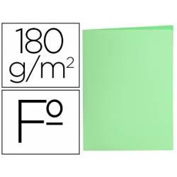 Subcarpeta de cartulina Liderpapel Tamaño folio Verde pastel 180g/m2