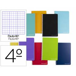 Cuaderno espiral Liderpapel Witty Tamaño cuarto Tapa dura Pauta 46º 75 g/m2 Colores surtidos