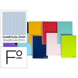Cuaderno espiral Liderpapel folio smart Tapa blanda 80h 60gr milimetrado 2mm Colores surtidos (no se puede elegir)