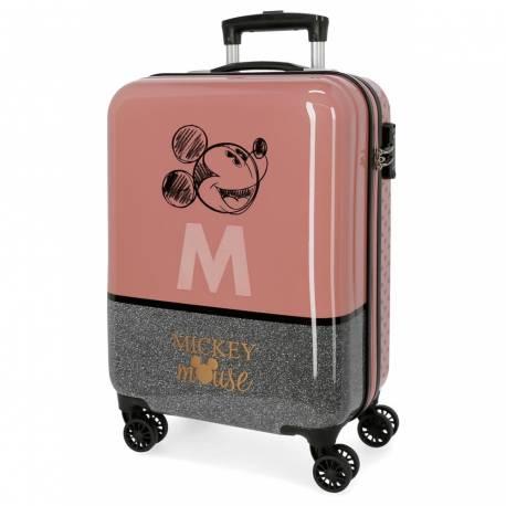 Maleta de cabina Mickey rígida 38x55x20 cm. 2,6kg.