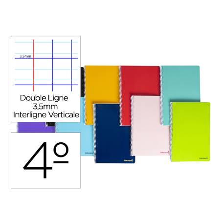 Cuaderno espiral Liderpapel cuarto smart Tapa blanda 80h 60gr Rayado montessori 3,5mm Colores surtidos (no se puede elegir)