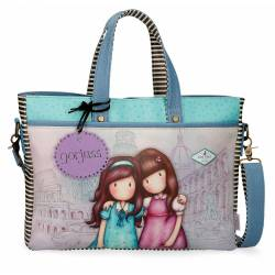 Bolso Gorjuss para portátil Friends Walk Together 28x39x6cm