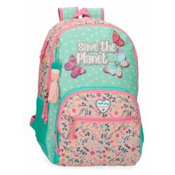 Mochila Escolar Movom Save the Planet Dos Compartimentos Adaptable (20126D1)