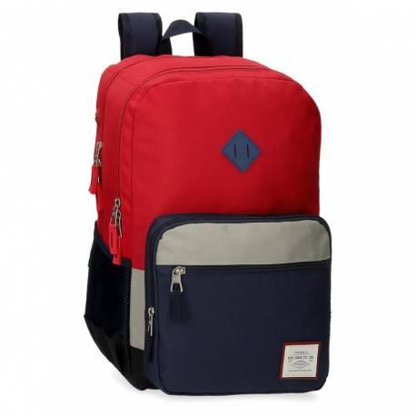 Mochila Pepe Jeans Dany Dos Compartimentos Roja (6122422)