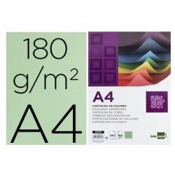 Cartulina Liderpapel color verde a4 180 g/m2