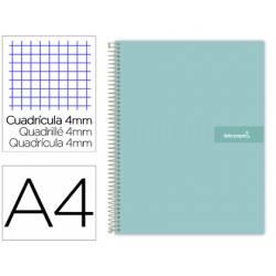 Bloc Liderpapel DIN A4 crafty cuadrícula 4mm color azul