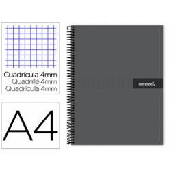 Bloc Liderpapel DIN A4 crafty cuadrícula 4mm color negro