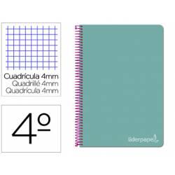 Bloc Liderpapel cuarto witty cuadrícula 5mm tapa dura 75 gr azul