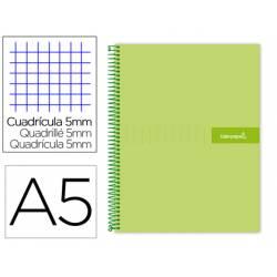 Bloc liderpapel Din A5 micro crafty cuadrícula 5mm tapa forrada 90 gr color verde