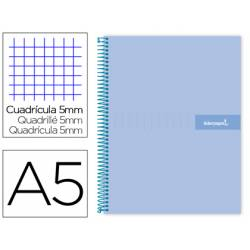 Bloc liderpapel Din A5 micro crafty cuadrícula 5mm tapa forrada 90 gr color azul