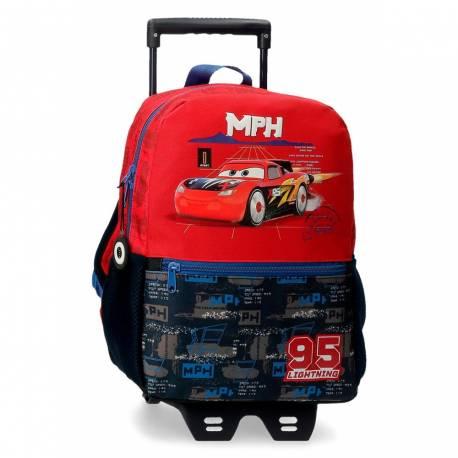 Mochila Cars Rocket Racing 32cm con Carro (20822T1)