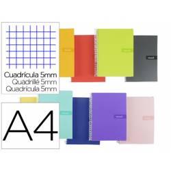"""Bloc Liderpapel DIN A4 crafty cuadro 5 mm con margen tapa forrada 90 gr color """"no se puede elegir"""""""